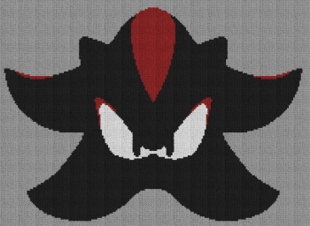 Shadow the Hedgehog - Single Crochet Written Graphghan Pattern - 03 (205x150)