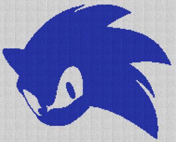 Sonic the Hedgehog - C2C Written Graphghan Pattern - 01 (191x154)