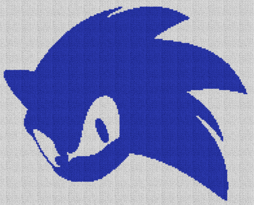 Sonic the Hedgehog - C2C Written Graphghan Pattern - 01 (191x154)