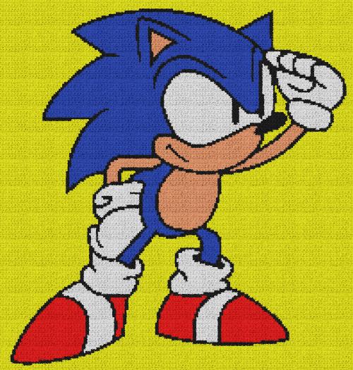 Sonic the Hedgehog - C2C Written Graphghan Pattern - 02 (200x210)