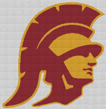USC Trojans - Single Crochet Written Graphghan Pattern - 01 (234x240)
