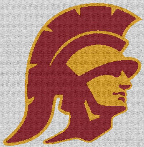 USC Trojans - Single Crochet Written Graphghan Pattern - 01 (234x240)