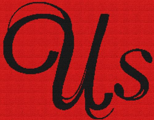 Us Movie - Single Crochet Written Graphghan Pattern - 01