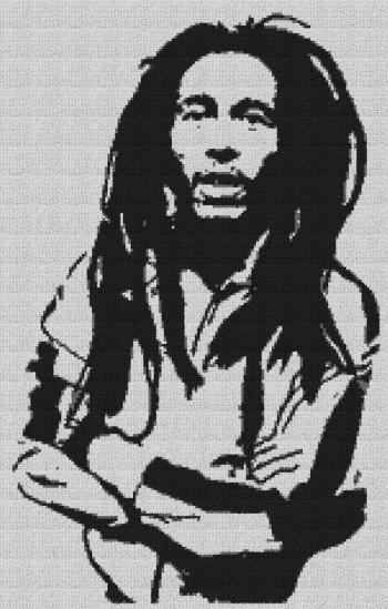 Bob Marley - Single Crochet Written Graphghan Pattern - 01 (153x240)