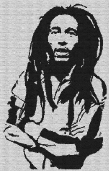 Bob Marley - Single Crochet Written Graphghan Pattern - 01 (153x240)
