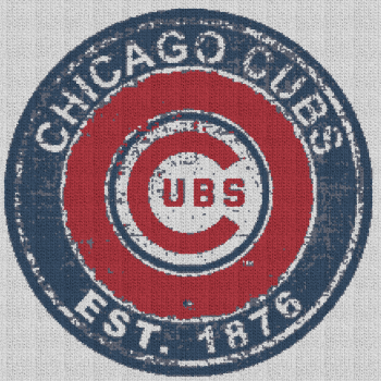Vintage Chicago Cubs - Single Crochet Written Graphghan Pattern - 09 (220x220)