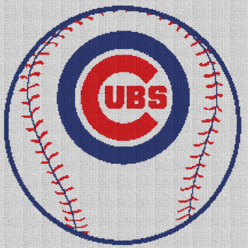 Chicago Cubs Baseball - Single Crochet Written Graphghan Pattern - 11 (219x219)