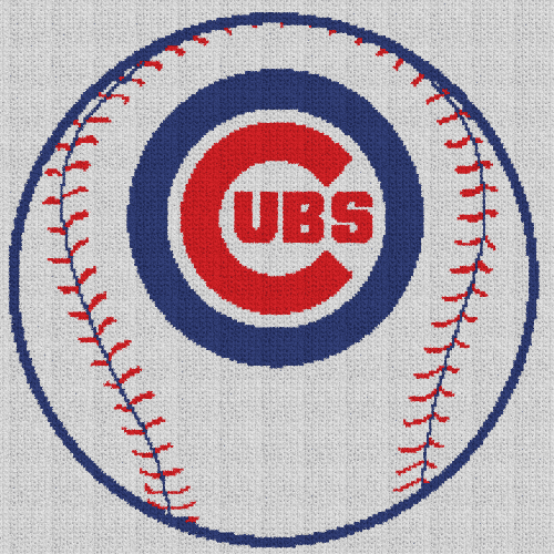 Chicago Cubs Baseball - Single Crochet Written Graphghan Pattern - 11 (219x219)