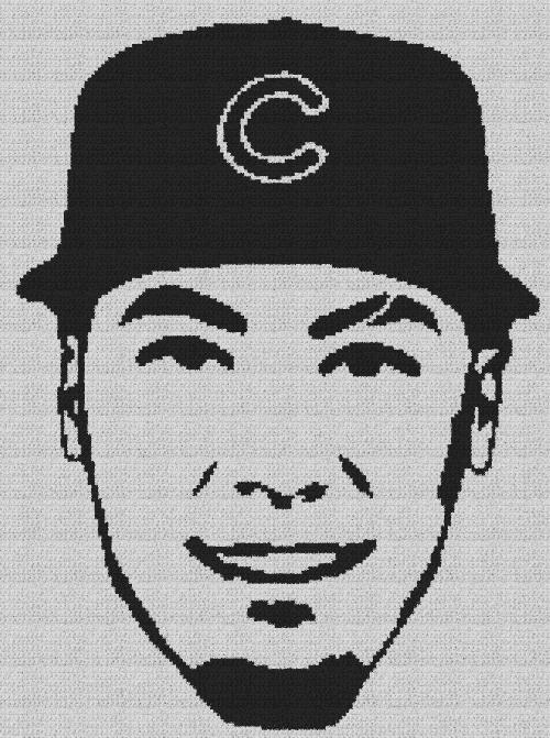 Javier Baez (Chicago Cubs) - Single Crochet Written Graphghan Pattern - 13 (164x220)