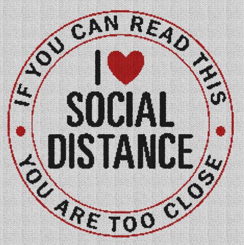 I Love Social Distance - Single Crochet Written Graphghan Pattern - 03 (227x228)