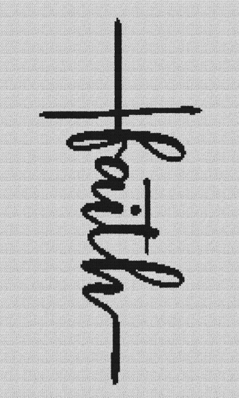 Faith Cross - Single Crochet Written Graphghan Pattern - 05 (125x214)
