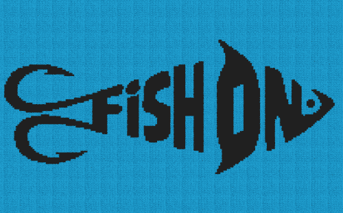 Fish On - Single Crochet Written Graphghan Pattern - 04 (209x130)