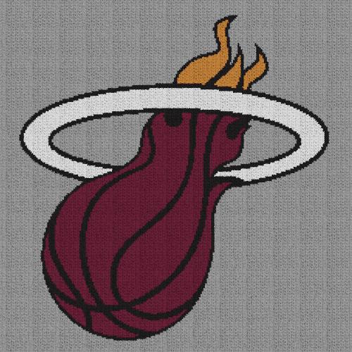 Miami Heat - Single Crochet Written Graphghan Pattern - 01 (220x220)