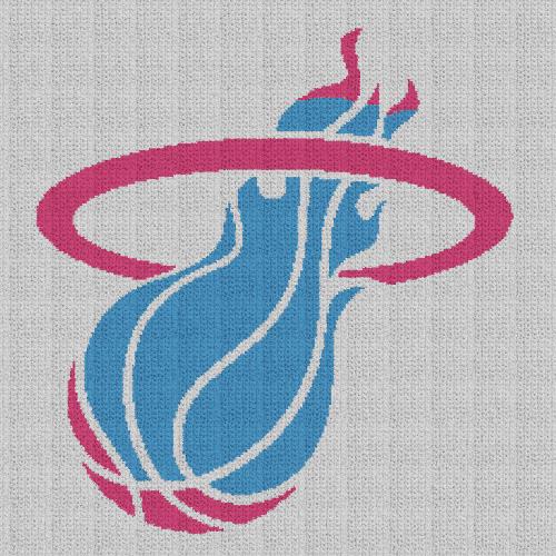 Miami Heat (Vice Night) - Single Crochet Written Graphghan Pattern - 03 (225x225)