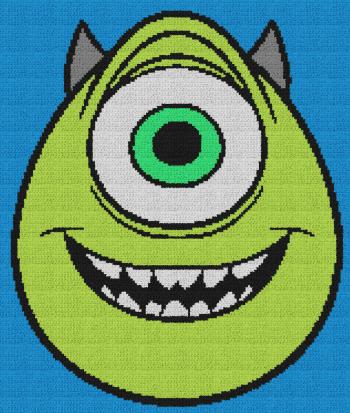 Mike (Monsters, Inc.) - Single Crochet Written Graphghan Pattern - 03 (160x189)