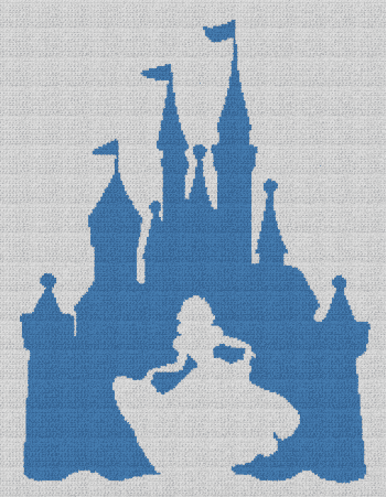 Snow White / Disney Castle - Single Crochet Written Graphghan Pattern - 05 (184x240)