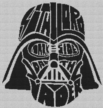 Darth Vader (Star Wars) - Single Crochet Written Graphghan Pattern - 24 (208x218)