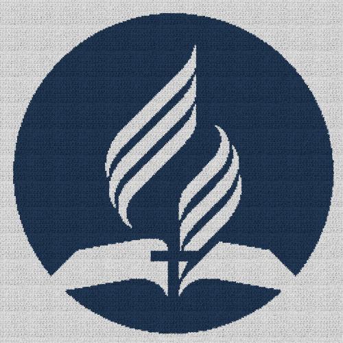 Seventh-Day Adventist Church - Single Crochet Written Graphghan Pattern - 02 (250x250)