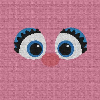 Abby (Sesame Street) - Single Crochet Written Graphghan Pattern - 01 (210x210)
