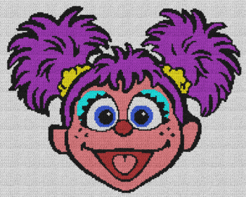 Abby (Sesame Street) - Single Crochet Written Graphghan Pattern - 02 (200x160)