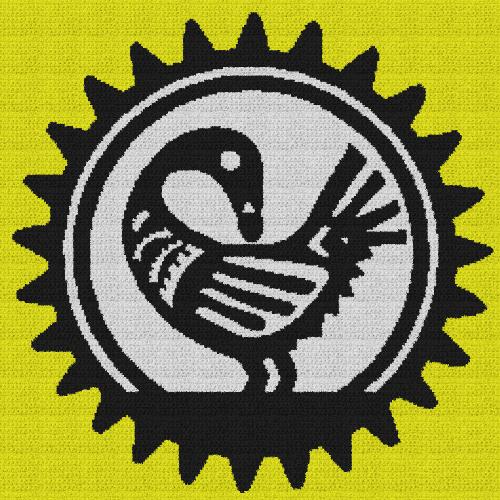 Sankofa Bird - Single Crochet Written Graphghan Pattern - 02 (240x240)