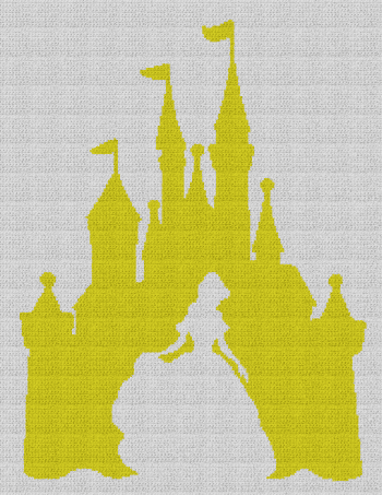 Belle / Disney Castle - Single Crochet Written Graphghan Pattern - 10 (183x240)