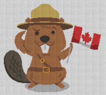 Canadian Beaver - Single Crochet Written Graphghan Pattern - 01 (180x160)