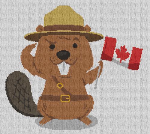 Canadian Beaver - Single Crochet Written Graphghan Pattern - 01 (180x160)