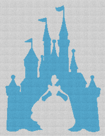 Cinderella / Disney Castle - Single Crochet Written Graphghan Pattern - 08 (183x240)