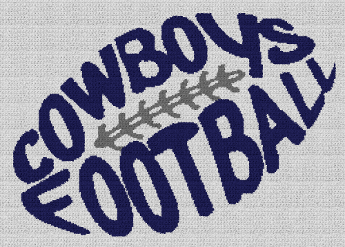 Cowboys Football - Single Crochet Written Graphghan Pattern - 06 (249x176)