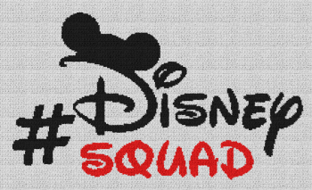 Disney Squad (Mickey Mouse) - Single Crochet Written Graphghan Pattern - 06 (240x142)