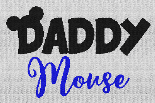 Daddy Mouse (Mickey Mouse) - Single Crochet Written Graphghan Pattern - 07 (239x155)
