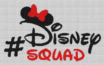 Disney Squad (Minnie Mouse) - Single Crochet Written Graphghan Pattern - 09 (240x147)