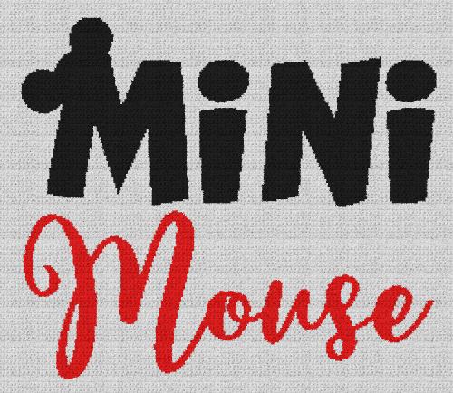 Mini Mouse (Mickey Mouse) - Single Crochet Written Graphghan Pattern - 10 (240x207)