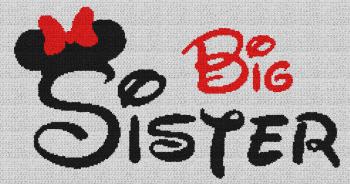 Big Sister (Minnie Mouse) - Single Crochet Written Graphghan Pattern - 11 (239x131)