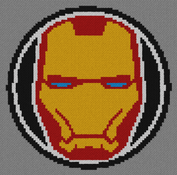 Iron Man - C2C Written Graphghan Pattern - 04 (90x89)