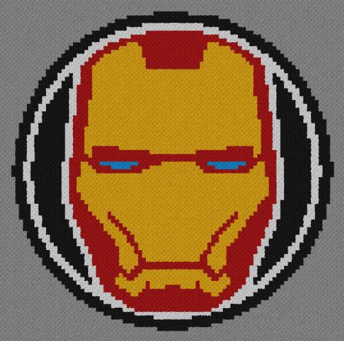Iron Man - C2C Written Graphghan Pattern - 04 (90x89)
