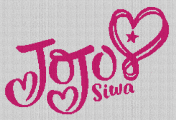 Jojo Siwa - Single Crochet Written Graphghan Pattern - 01 (160x238)