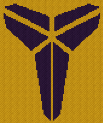 Black Mamba (Kobe Bryant) - C2C Written Graphghan Pattern - 02 (84x101)