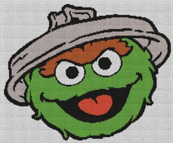 Oscar the Grouch - Single Crochet Written Graphghan Pattern - 01 (210x174)