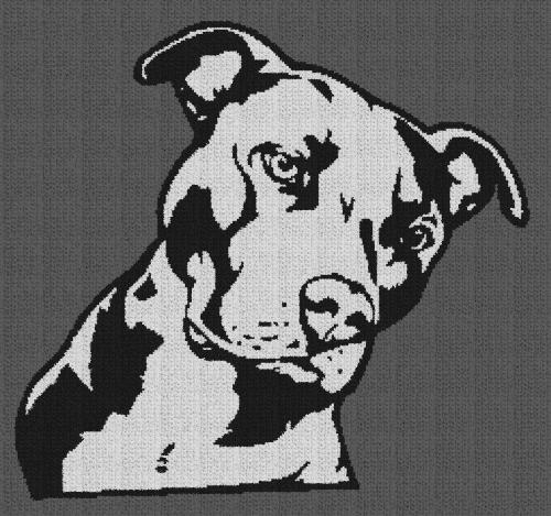 Pitbull - Single Crochet Written Graphghan Pattern - 01 (249x233)