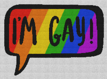 I'm Gay - Single Crochet Written Graphghan Pattern - 03 (239x174)