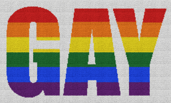 Gay (Pride) - Single Crochet Written Graphghan Pattern - 04 (250x147)