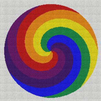Rainbow Swirl - Single Crochet Written Graphghan Pattern - 03 (230x230)