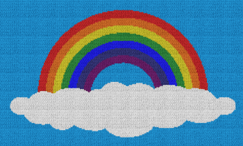 Rainbow on a Cloud - Single Crochet Written Graphghan Pattern - 04 (230x134)