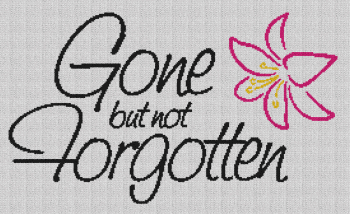 Gone but not Forgotten - Single Crochet Written Graphghan Pattern - 01 (268x160)