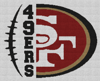 San Francisco 49ers - Single Crochet Written Graphghan Pattern - 02 (244x195)