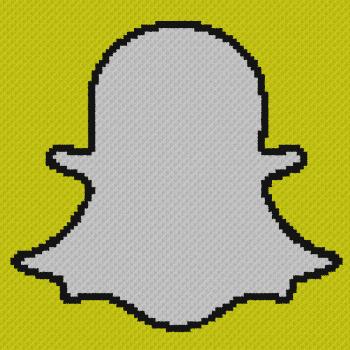 Snapchat Logo - C2C Written Graphghan Pattern - 01 (100x100)