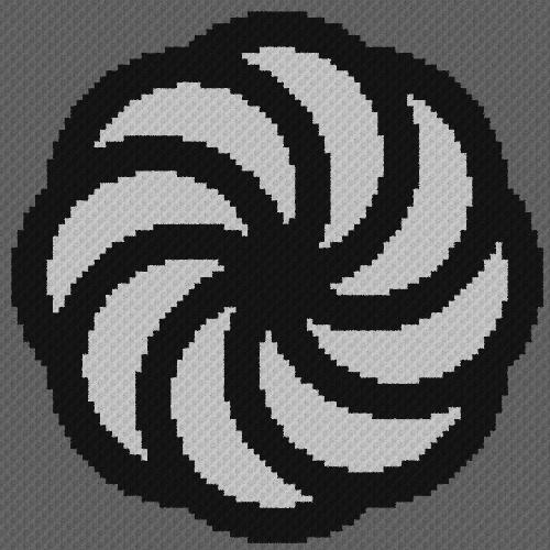 Armenian Eternity Symbol - C2C Written Graphghan Pattern - 01 (94x94)