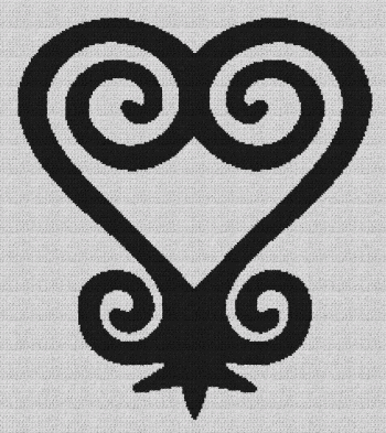 Sankofa Heart - Single Crochet Written Graphghan Pattern - 05 (204x230)